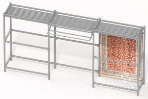стенд для ковров раздвижной