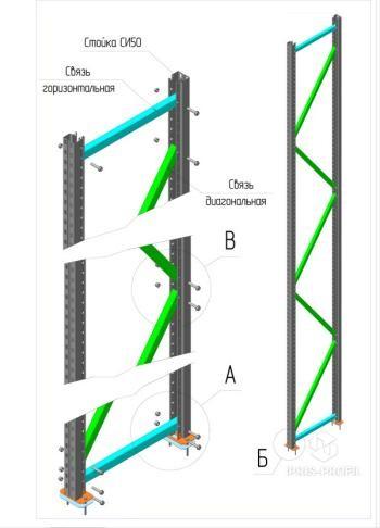 схема сборки полочного стеллажа