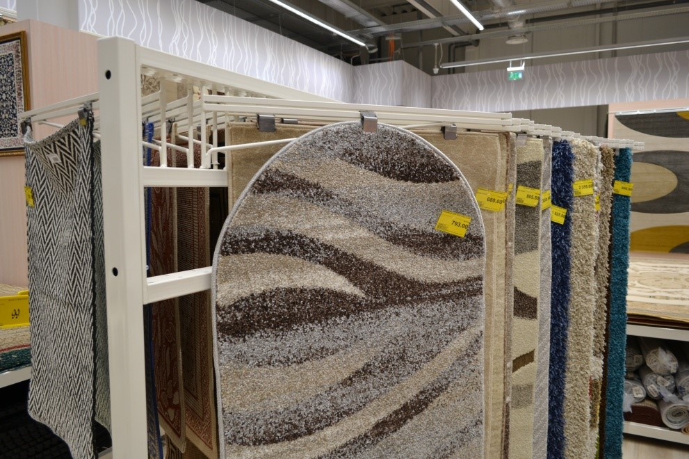 Стенд для ковров от производителя Иприс-Профиль