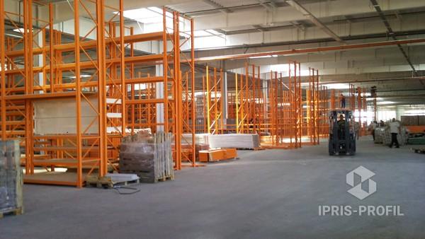паллетные стеллажи иприс профиль для складского помещения
